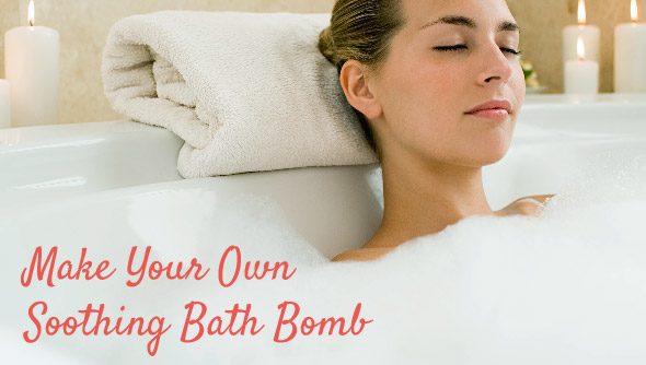 Make your own soothing bath bomb